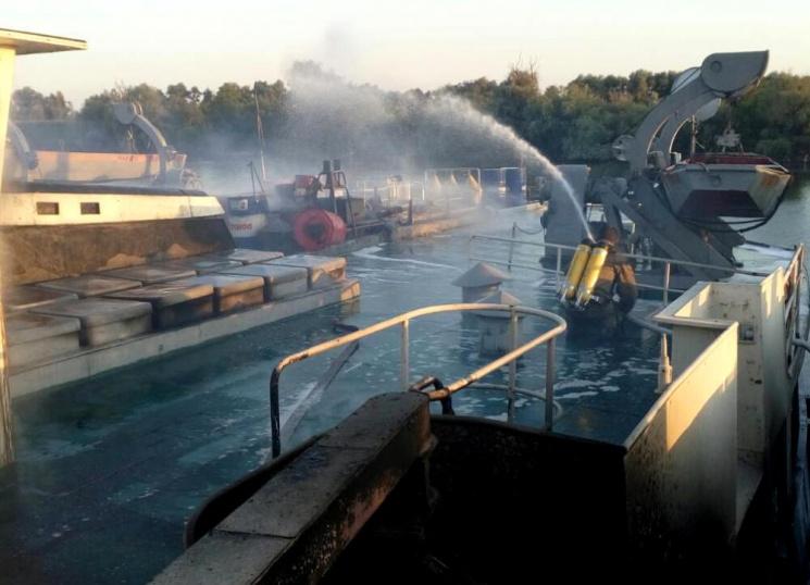 ВОдесской области произошел пожар нагрузовом судне