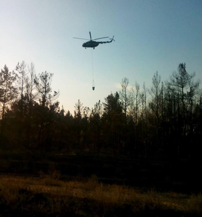 ВХерсонской области— масштабный пожар