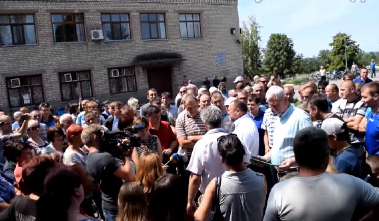 З'явилося відео страйку в Лисичанську: Гірники сидять під землею вже дві доби