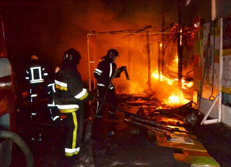 ВАркадии пылает известное место отдыха— Одесса впламени