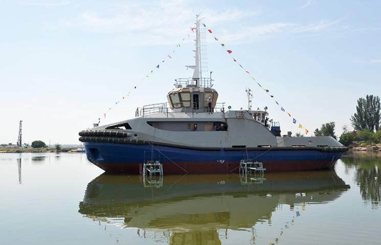 У Миколаєві на воду спустили ще один багатоцільовий буксир