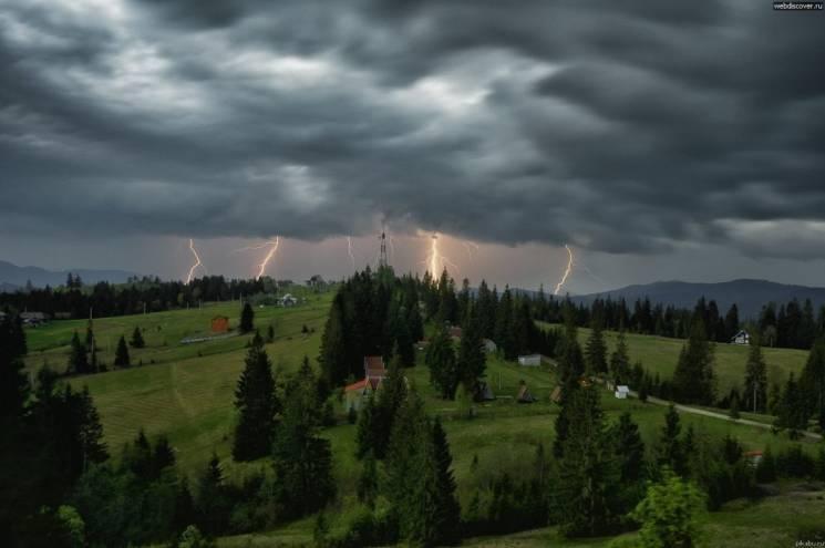 Закарпатські синоптики попереджають про сильні зливи і град