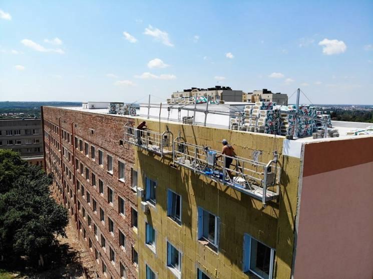 У Вінниці утеплюють перинатальний центр (ФОТО)