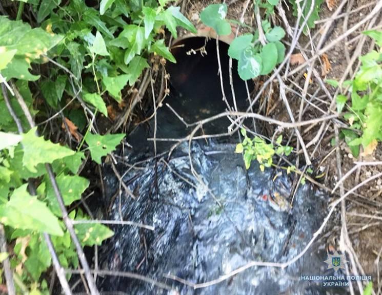 На запорізькому курорті знайшли трубу, з якої в море струмують нечистоти (ФОТО)