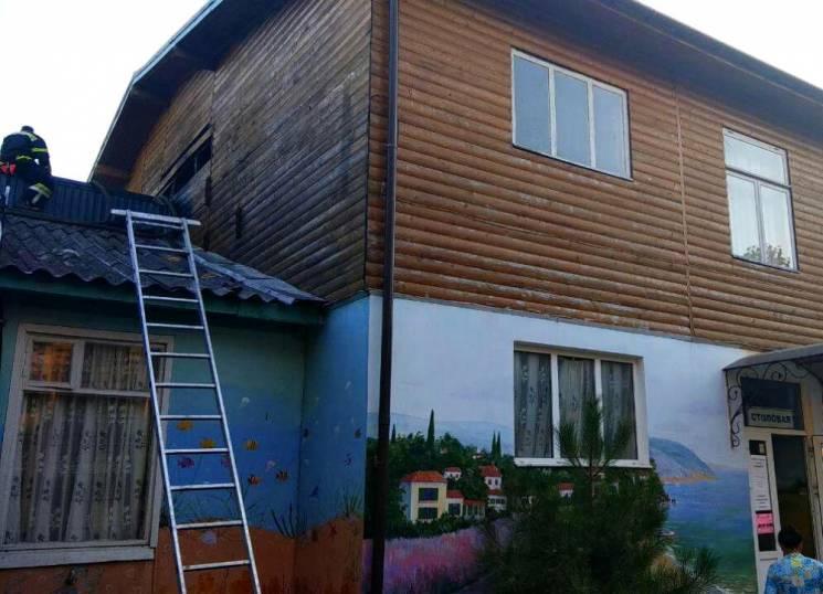 На Одещині горіла їдальня на базі відпочинку (ФОТО)