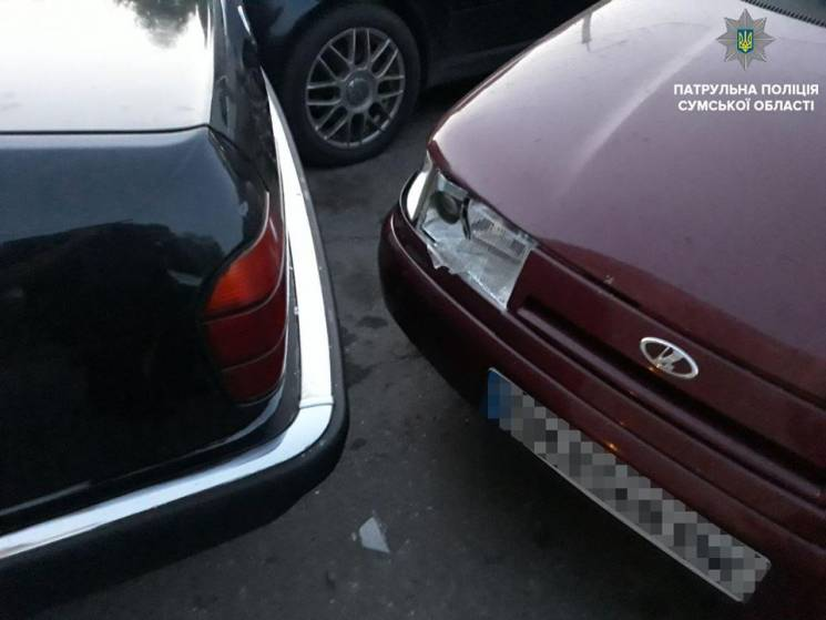 П'яна сумчанка без водійських прав скоїла ДТП на вулиці Харківській