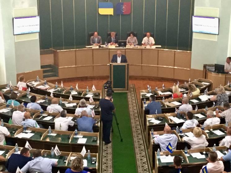 Депутати на сесії Хмельницької облради з…