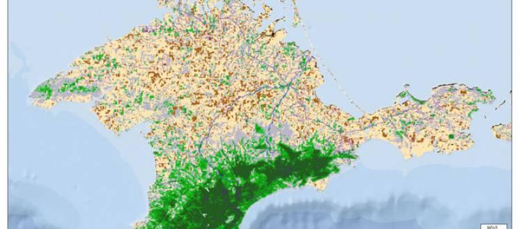 Супутникові знімки показали, що в окупованому Криму суттєво зникла рослинність (ФОТО)