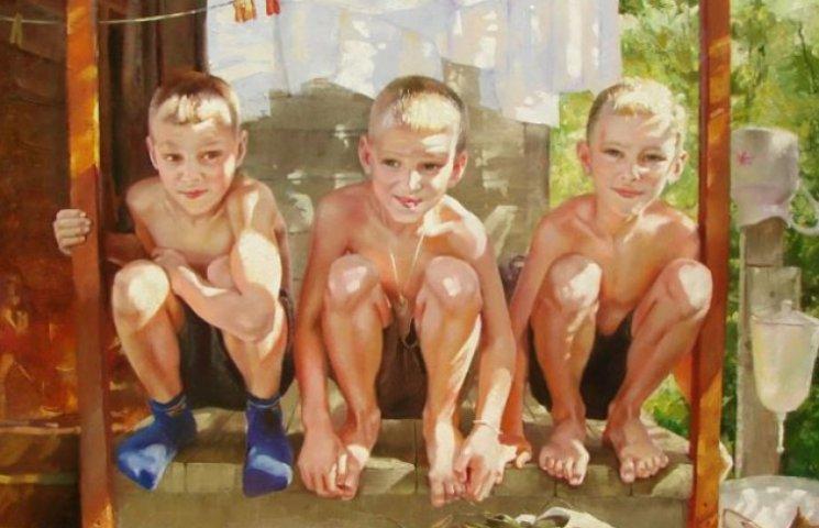 """""""Діти в підземеллі"""": У Сумах відкрилася виставка картин, присвячена дитинству"""