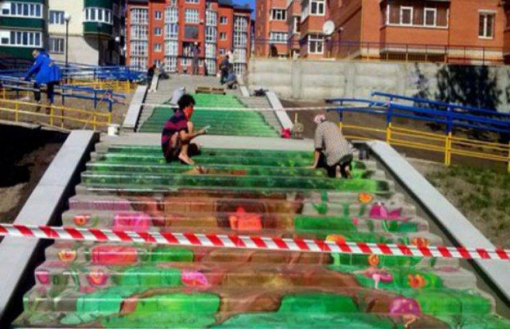 У Сумах намалюють європейські сходи
