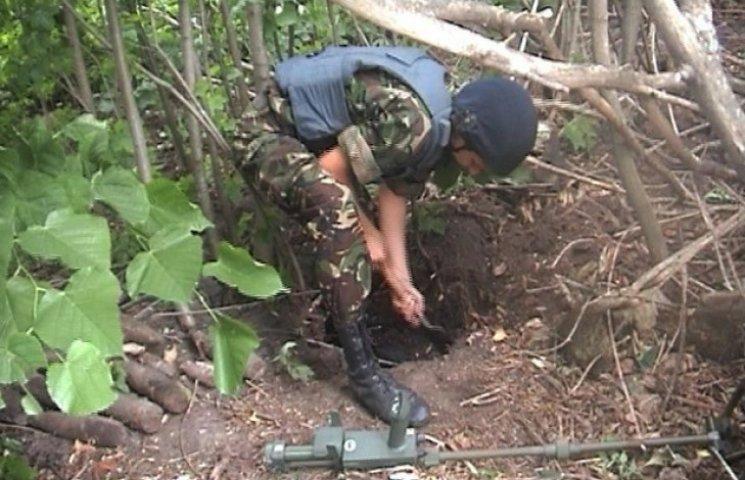 На Сумщині на місці розташування німецької військової частини знайшли 33 снаряди (ФОТОФАКТ)