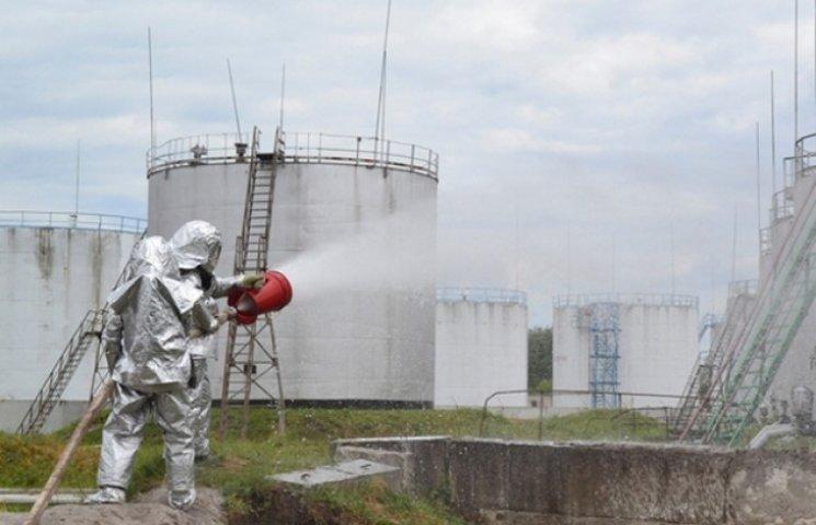 Пожежники ліквідували умовну пожежу на нафтобазі