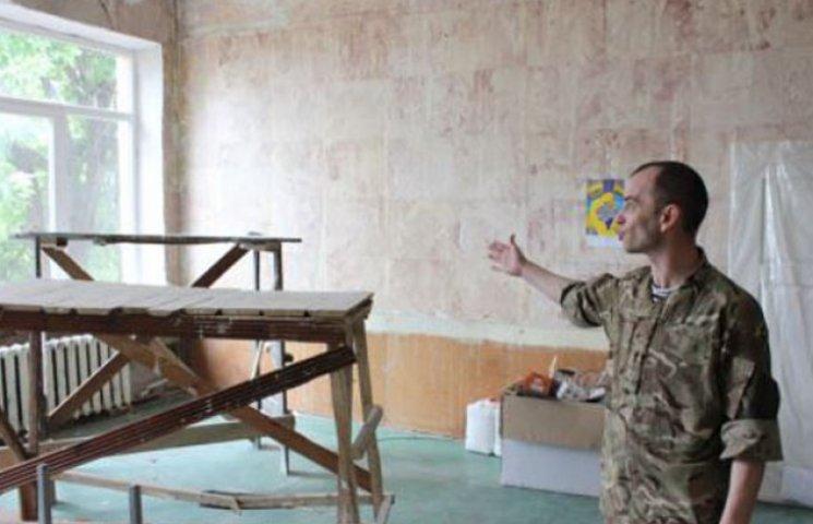 """Спецпідрозділ """"Сармат"""" своїми силами робіть ремонт у своїй казармі в Запоріжжі (ФОТО)"""