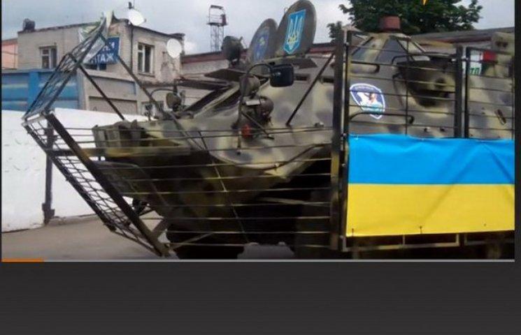 Дніпропетровські волонтери повернули в АТО знищений БТР (ВІДЕО)