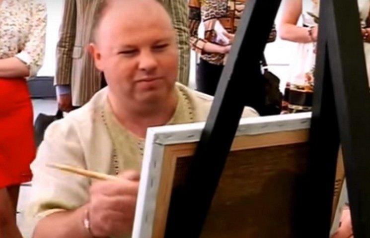Для свого ювілейного рекорду вінницький художник написав 10 полотен за 60 хвилин