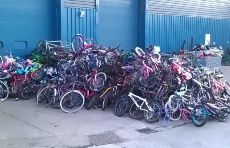 На Одещині знищать понад 11 тисяч контрабандних велосипедів