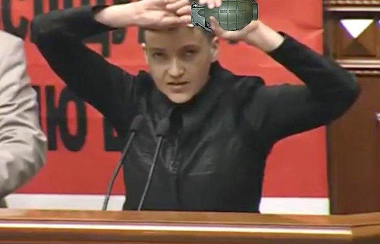 Чем Савченко с гранатой похожа на Березюка с тиранозавром