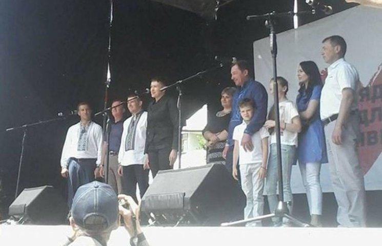 """Як Савченко у Лохвиці агітувала за """"Батьківщину"""""""
