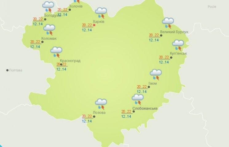 На Харківщині сьогодні дощитиме