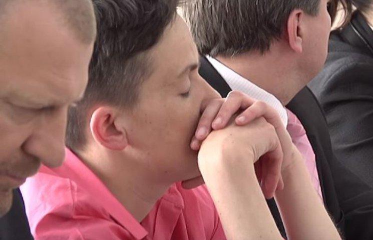 Як Савченко спала на засіданні комітету з нацбезпеки