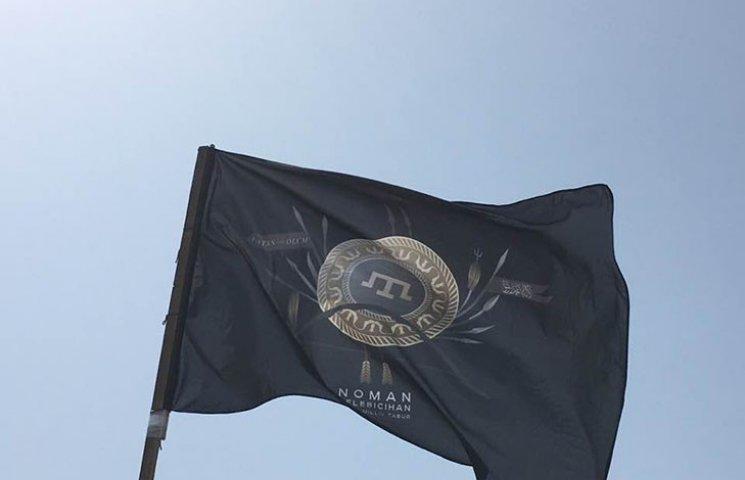 Кримськотатарський батальйон вперше підняв прапор над Чонгаром