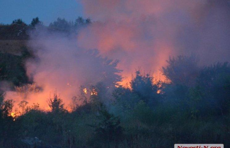 В Николаеве загорелась свалка. Город страдает от едкого дыма
