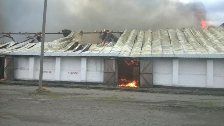 НаПолтавщині сталася масштабна пожежа назерносховищі