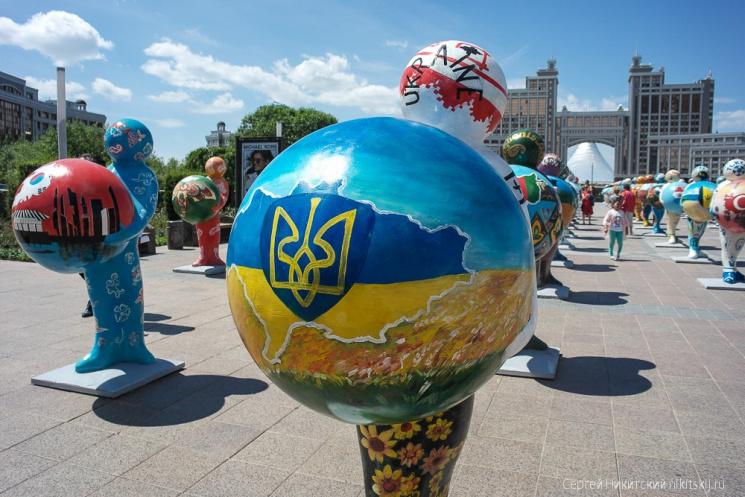 Украина без Крыма. ВКазахстане перерисовали карту кприезду В.Путина