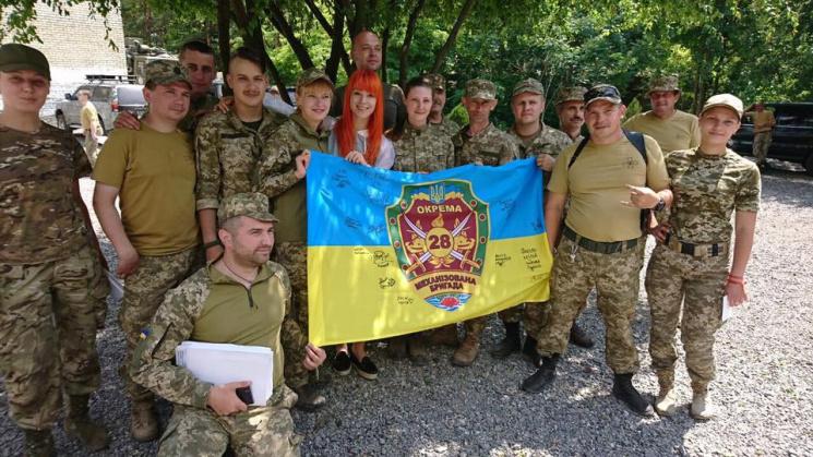 Світлана Тарабарова подарувала воїнам АТ…