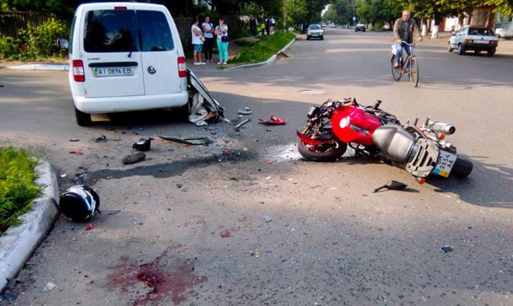 На Сумщині знову розбився мотоцикліст