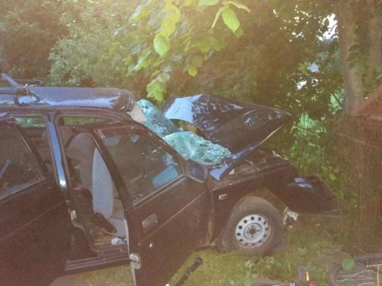 На Чернігівщині повна машина дітей в'їхала в дерево: Є загиблі