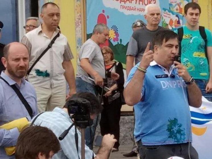 Зеленка для Саакашвілі у Кривому Розі потягнула на кримінальне провадження