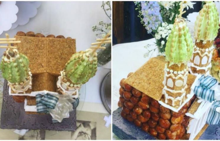 Відомий кондитер створив торт у вигляді Ужгородського кафедрального собору