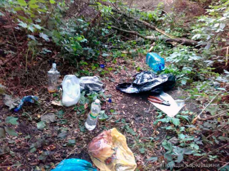 На Харківщині наркоман варив дозу посеред лісу