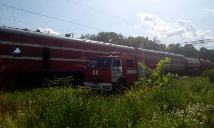 На Хмельниччині задимілися вантажні вагони