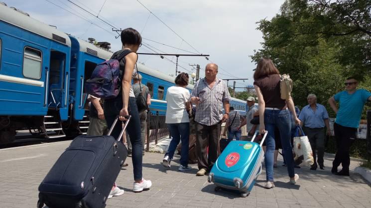 Як до Трускавця прибув перший потяг з Бі…