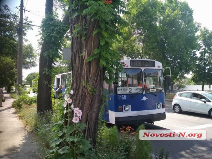 У центрі Миколаєва зупинилися тролейбуси