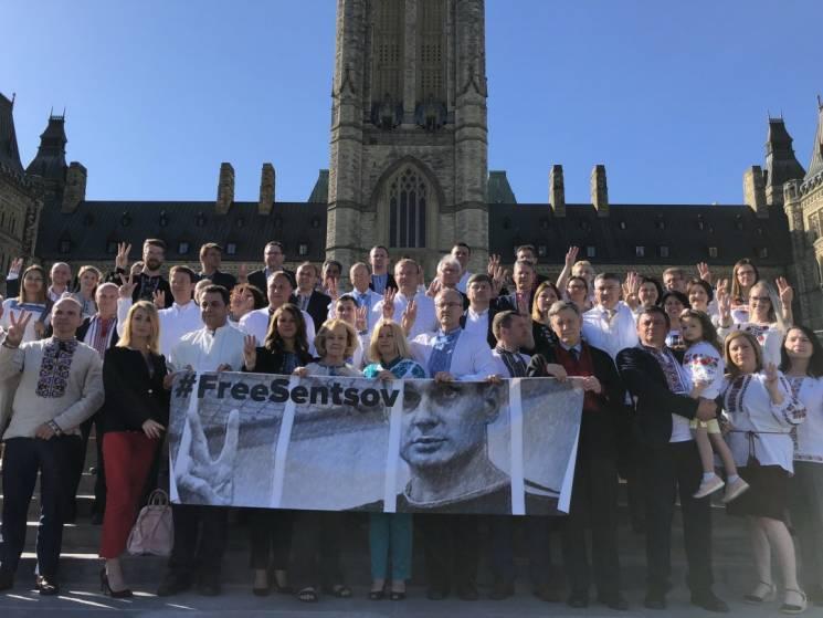 Канадські депутати у вишиванках підтримали Сенцова (ФОТО)