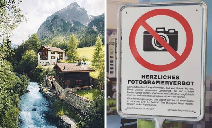 Знімки альпійського містечка, яке заборонено фотографувати