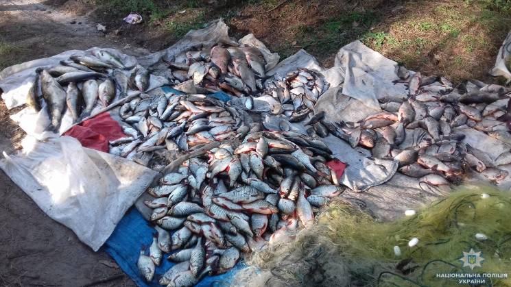На Кропивниччині у рибних браконьєрів вилучили майже 5 км сіток