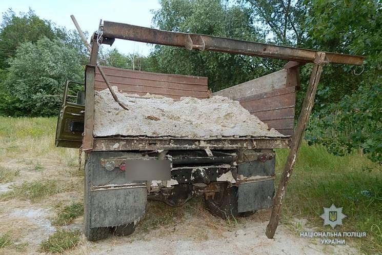 На Полтавщині поліція завадила незаконному видобутку піску