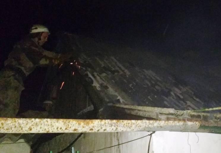 На Херсонщині вщент згоріла літня кухня (ФОТО)