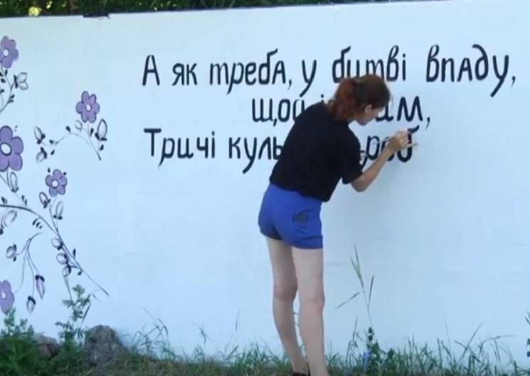 У Павлограді розмалювали паркан квітами і віршами (ВІДЕО)