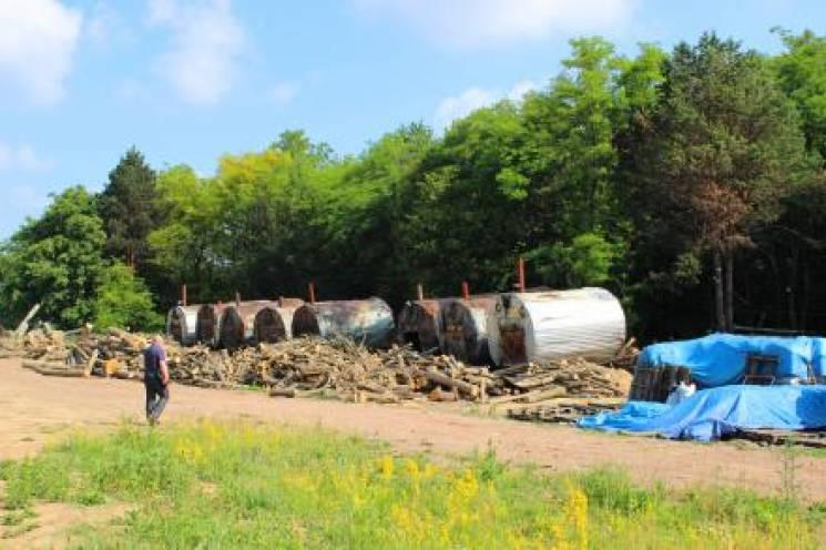 На Хмельниччині роботодавець використовував працю нелегалів на випалювання вугілля