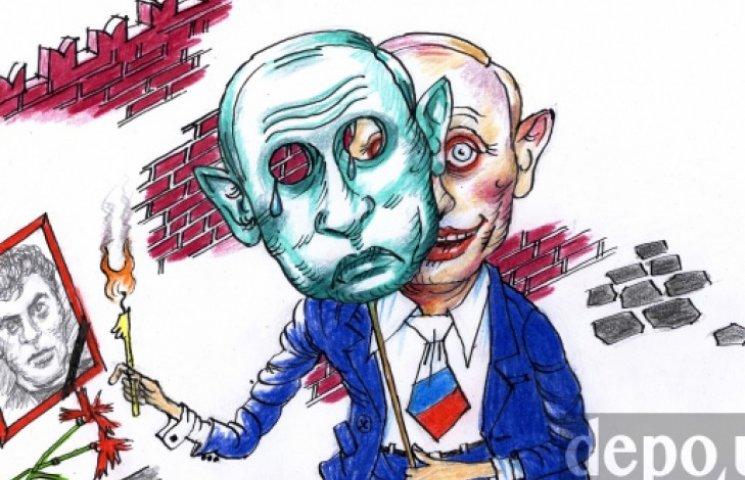 Тиждень у карикатурах: Крим, Нємцов і гривня