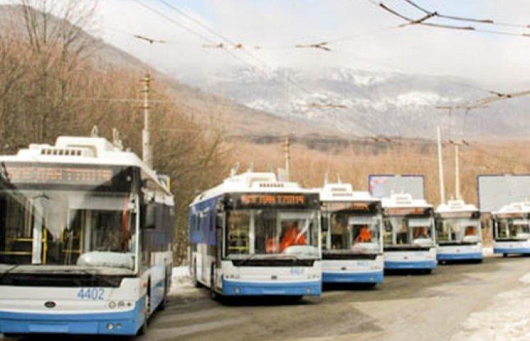 «Крымваш»: водители троллейбусов объявили забастовку, требуя денег