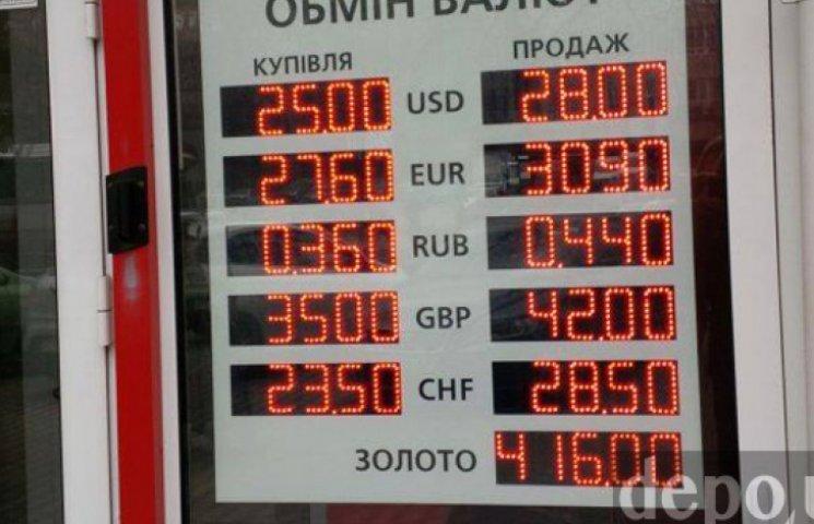 В столичних обмінниках долар продають не дорожче 28 грн