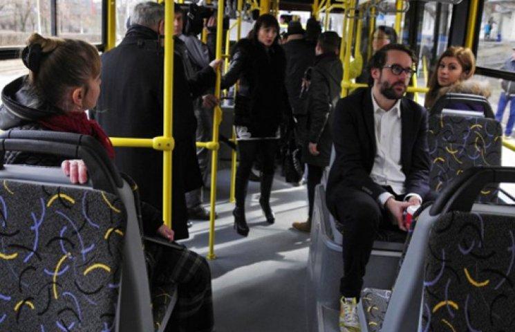 В Киеве волонтеры подсчитывают пассажиров общественного транспорта