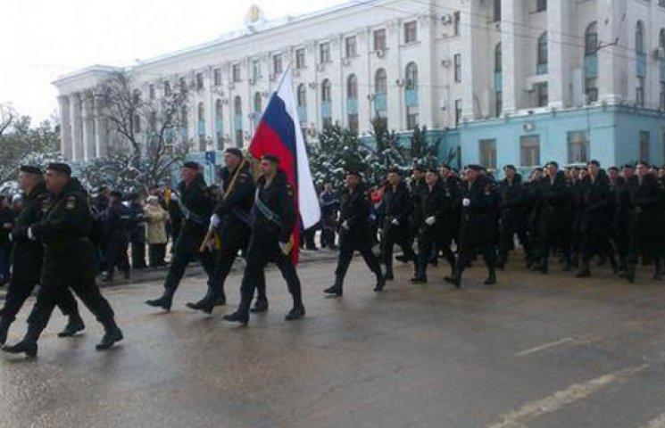 Военный парад в столице «Крымнаш» не нашел своего зрителя
