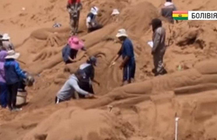 В Болівії створили Ісуса з піску